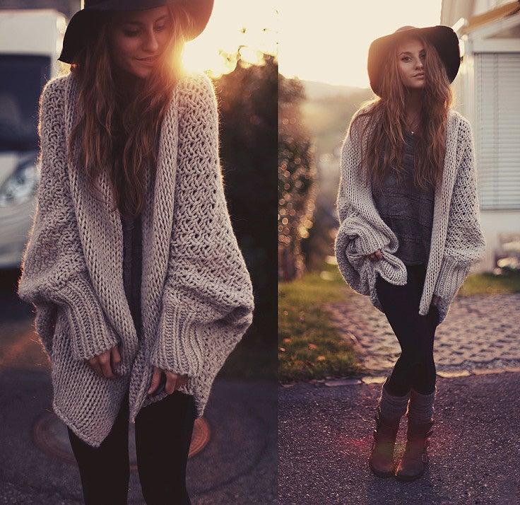 Image of Cardigan Batwing Sweater CS1104EB