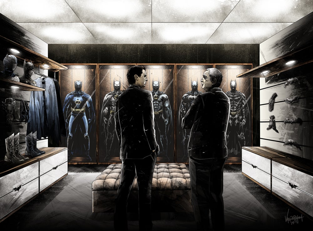 """Image of """"Who Will You Be Tonight?"""" - Inspired by Batman 75 years"""