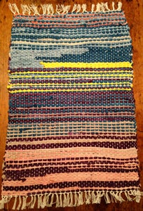 Image of Rag Rug-Dark Shadow: (one-off hand dyed using natural dyes)