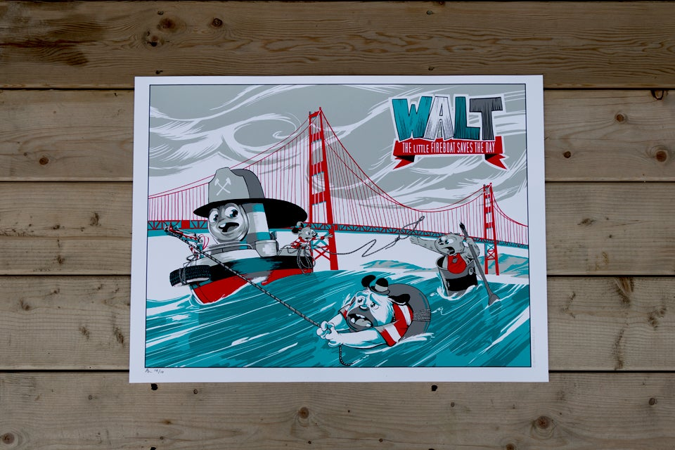 Image of Walt saves the day - Fine Art Edition