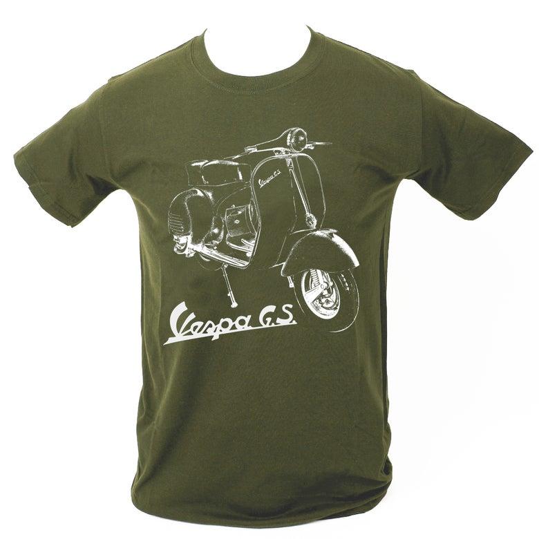 Image of Vespa GS T-Shirt MILITARY GREEN