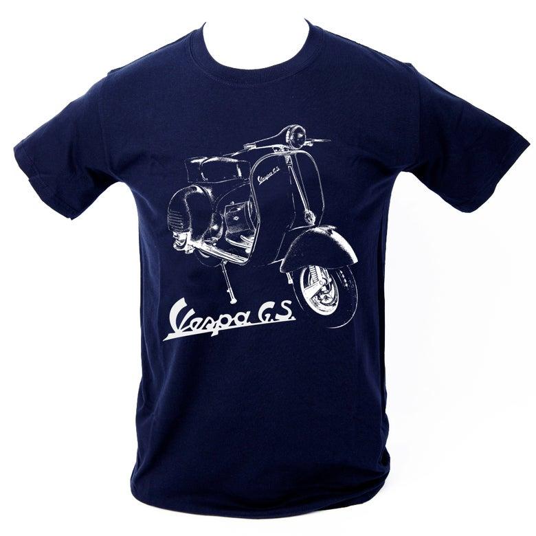Image of Vespa GS T-Shirt NAVY BLUE