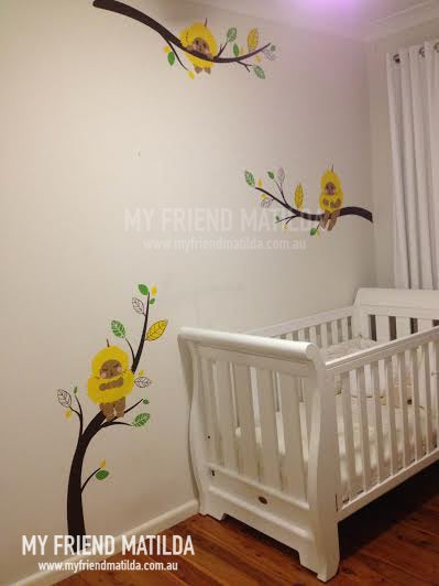 ... Wall Stickers For Nursery Australia Gumnut Babies Wattle Babies On  Branches Wall Decals Removable ... Part 51