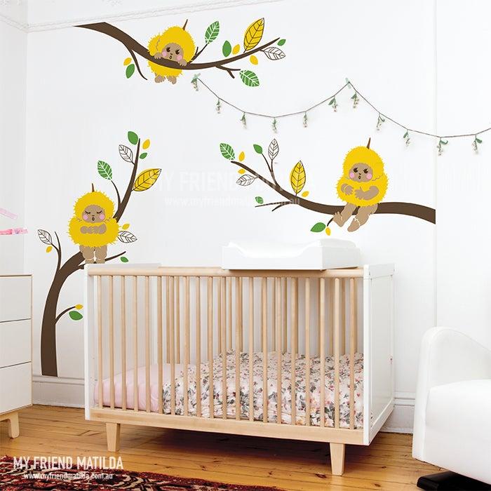 Gumnut Babies   Wattle Babies On Branches Wall Decals Part 64