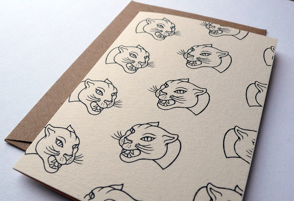 Image of Panther Card  (A7 size, blank inside)