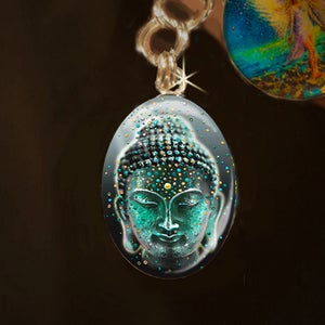 Image of Buddha Deep Serenity Silver Energy Charm - Release your fears and worries