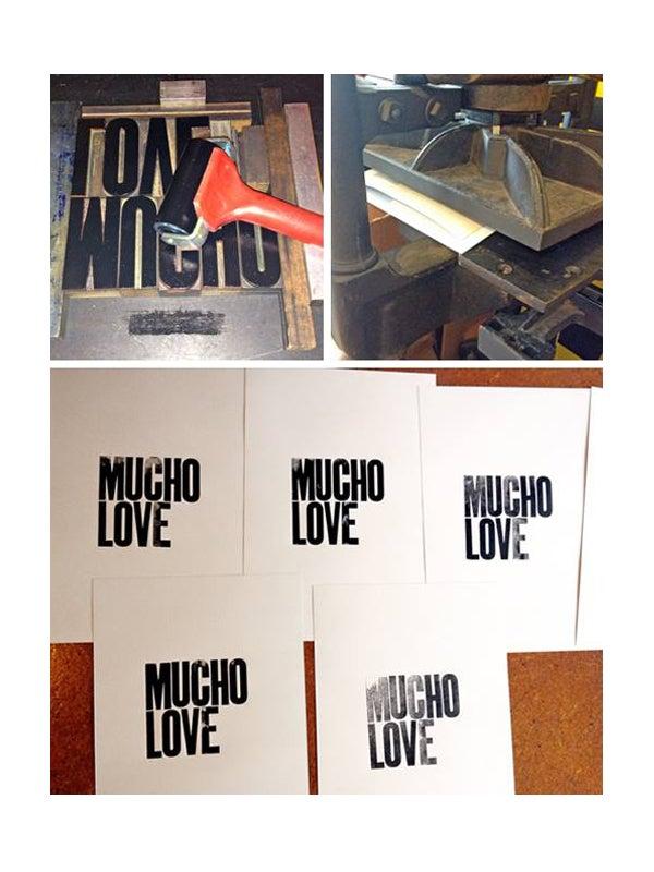 Image of Mucho Love art print - Black