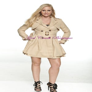 Image of Ruffle Flair Trench Coat