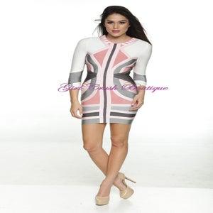 Image of Soft Passion Pink Bandage Bodycon Midi Pencil Dress