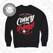 Image of JCI Feast CrewNeck - Black with white and red print