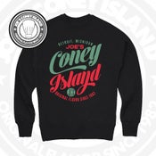 Image of JCI feast CrewNeck - Black crewneck with Gucci green and red print
