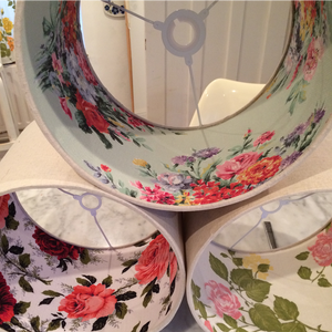 Image of Vintage Lined Linen Lampshades - Custom Orders