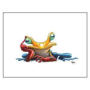 "Image of ""Pensive Tree Frog"" Print"