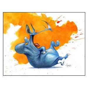 """Image of """"Laughing Rhino"""" Print"""