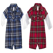 Image of Plaid Long Sleeve Onesie