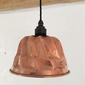 Image of Copper Jelly Mould Light
