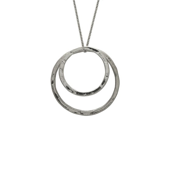 Image of Hoops Necklace Double