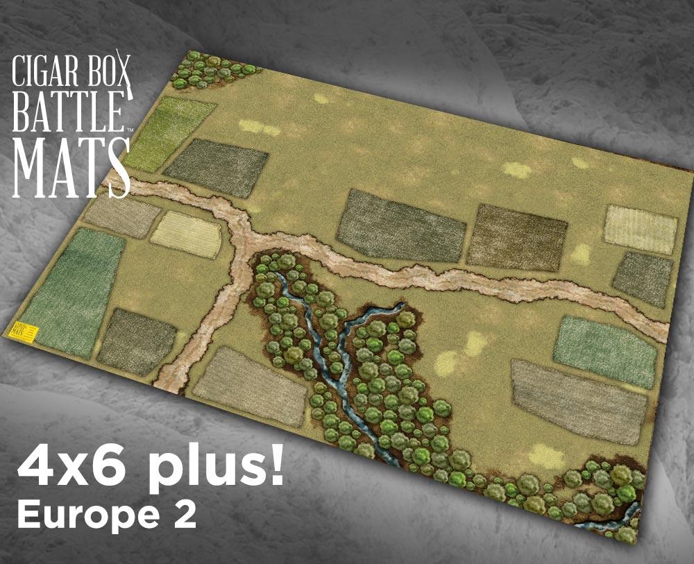 Europe 2 Gaming Battle Mat 4 X6 Plus 135 Cigar