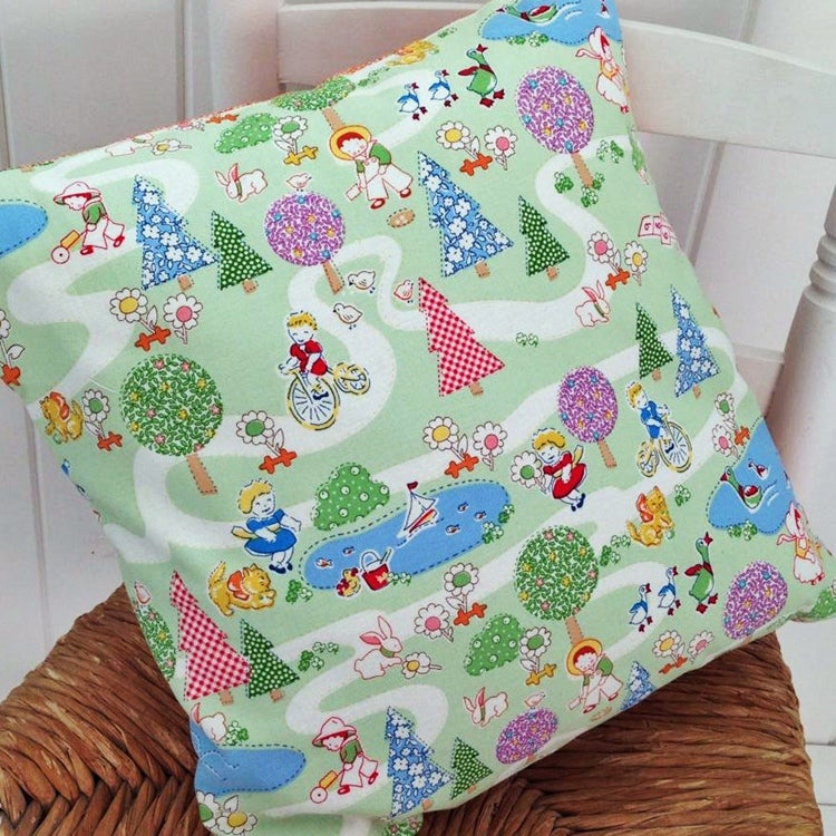 Image of Kids Vintage Duck Pond Cushion