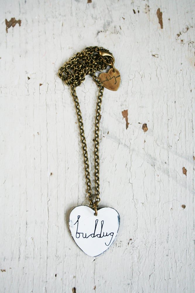 Image of Cadwen Enw Siap Calon ///  Personlised Heart Name Necklace