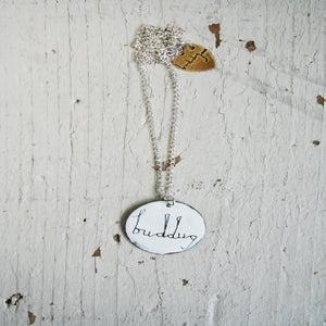 Image of Cadwen Enw Siap Crwn /// Personalised Enamel Circular Necklace