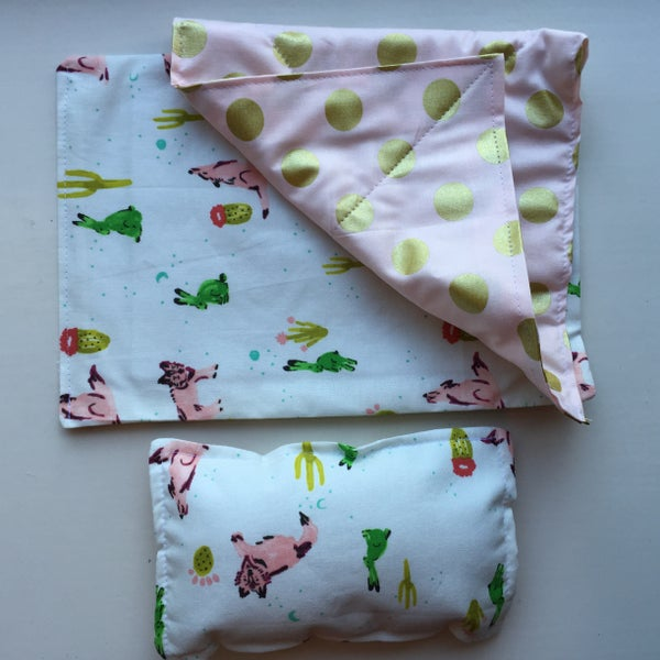 Image of Quilted Sleeping Bag & Pillow
