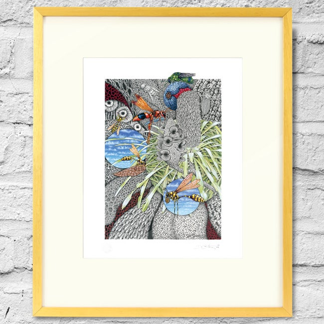 Image of BZZZZ - Framed Print