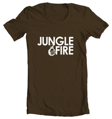 Image of Logo Tee - Brown/White