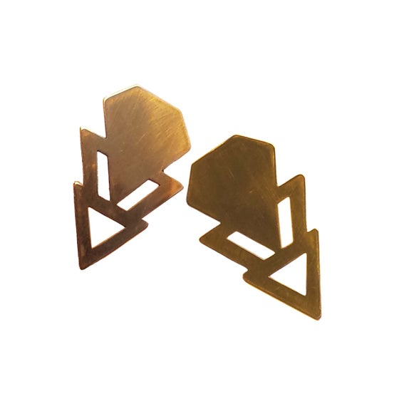 Image of Geo Spike cut out earrings