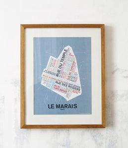 Image of Affiche Le Marais - Paris