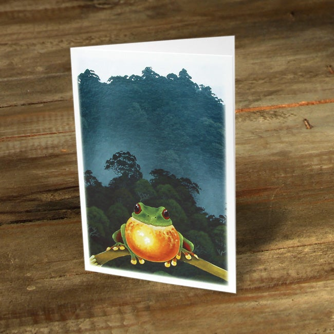 Image of Red Eyed Tree Frog Calling For a Mate - Gift Card