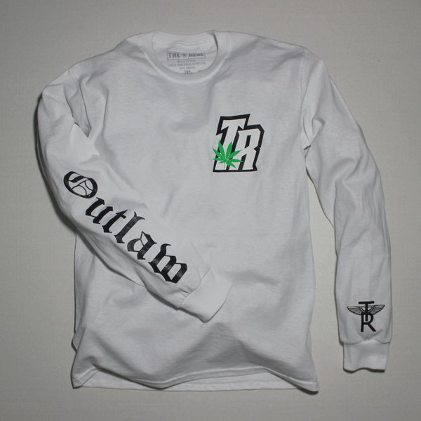Image of TR Plant x Outlaw Long Sleeve T-Shirt in WHITE