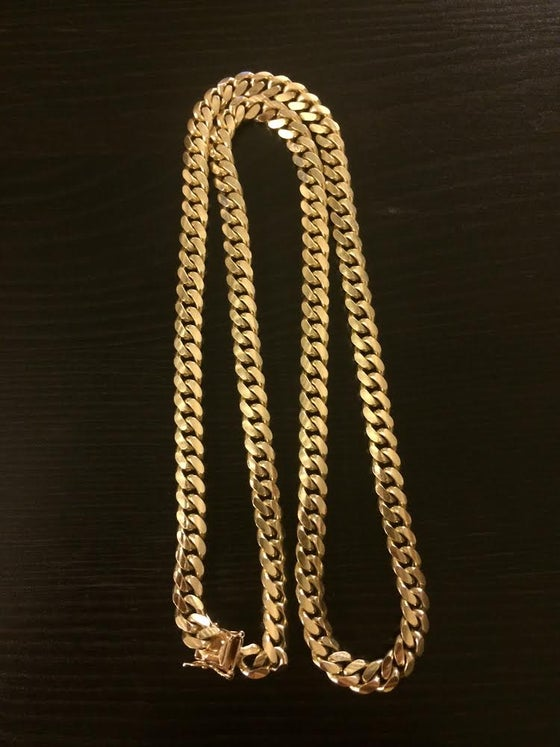 Image of Miami Cuban Link Chain 14kt Gold