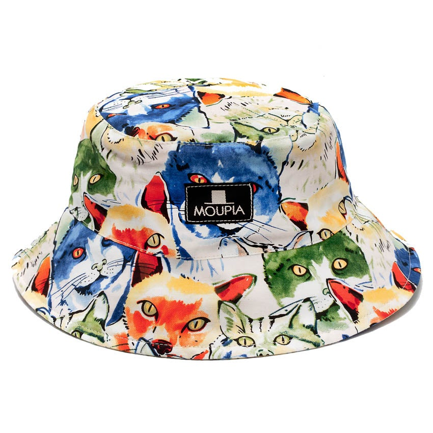 Image of Aquarelle Cats Foldable Bucket Hat
