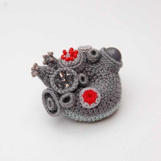 Image of Grey coral brooch