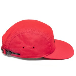 Image of Red Cotton 5 Panel Hat