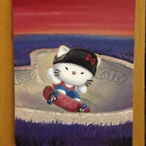 Image of Pool kitty.