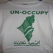 Image of UN-OCCUPY (Map of Palestine covered in Kuffeya)