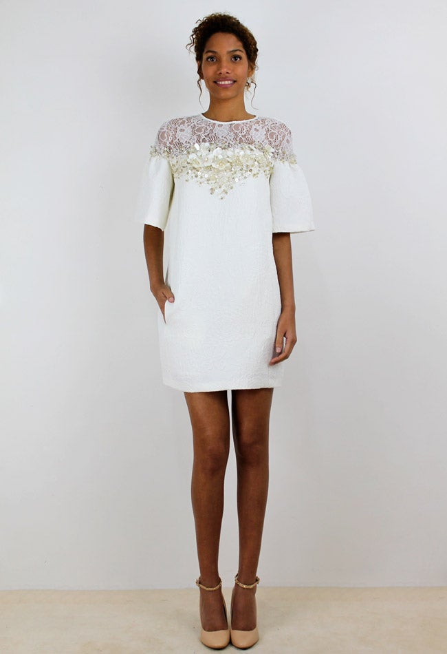 Image of WHITE EMBROIDERY DRESS