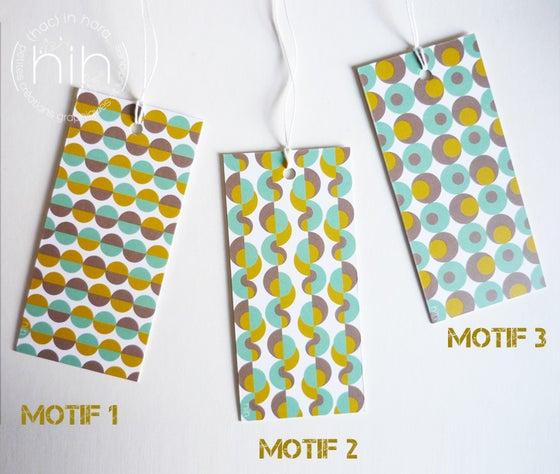 Image of lot étiquettes cadeau [GrAfiK] coloris 1