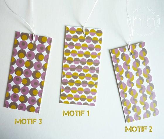 Image of lot étiquettes cadeau [GrAfiK] coloris 2