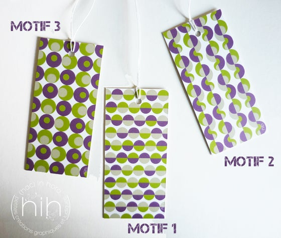 Image of lot étiquettes cadeau [GrAfiK] coloris 3