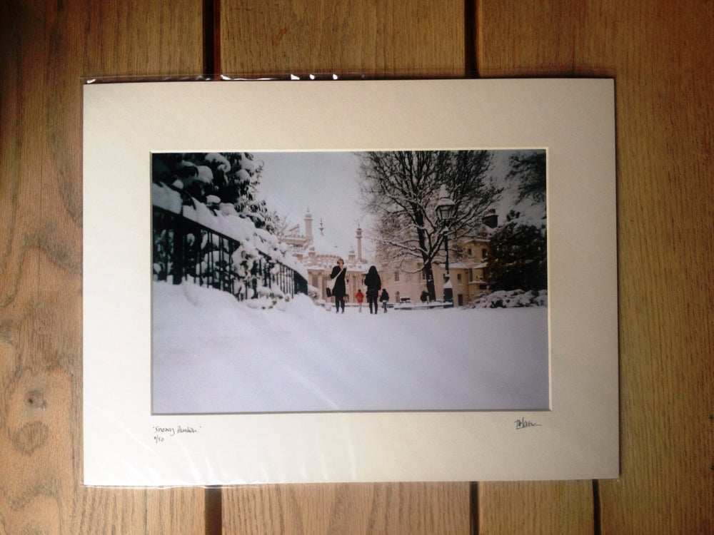 """Image of """"snowy pavilion"""" limited edition print"""