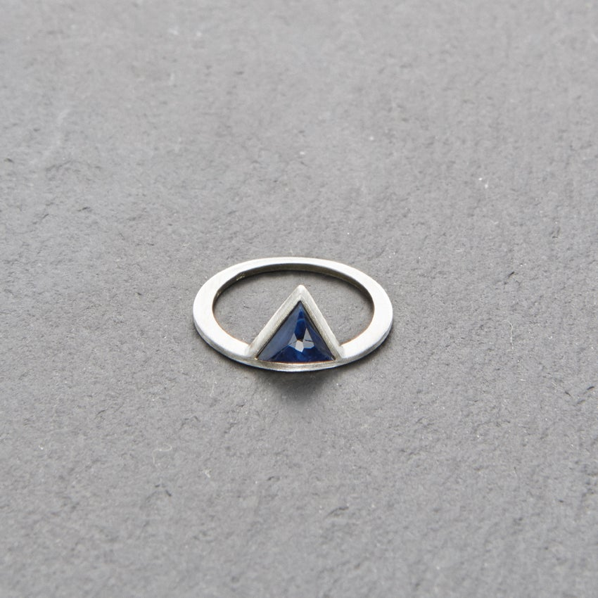 Image of Kandy Blue Sapphire Ring Silver