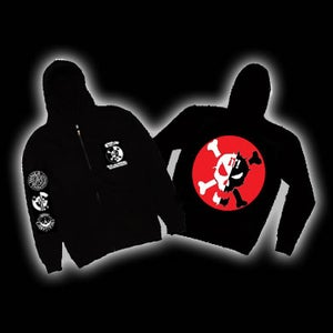 Image of  Red Skull zip up Hoody
