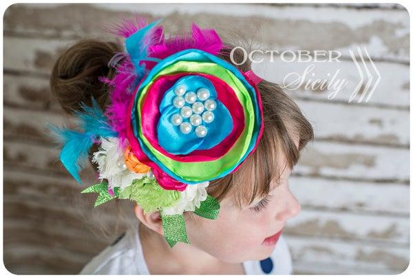 Image of Girls Big Layered Boutique Headband