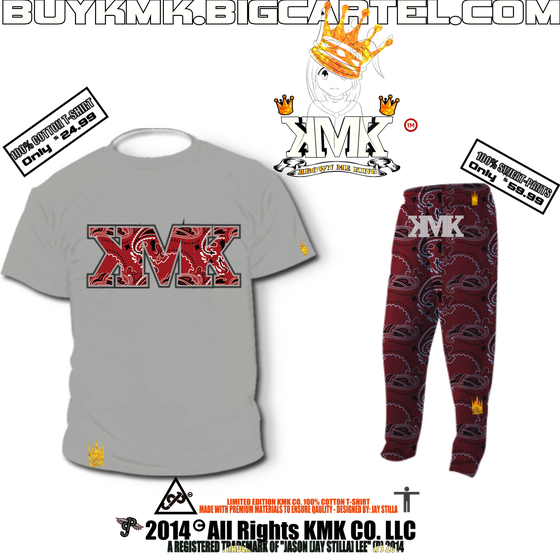 Image of KMK Co.- BLOODLINE T-SHIRT & SWEATPANTS [PREMIUM-STREET-WEAR]