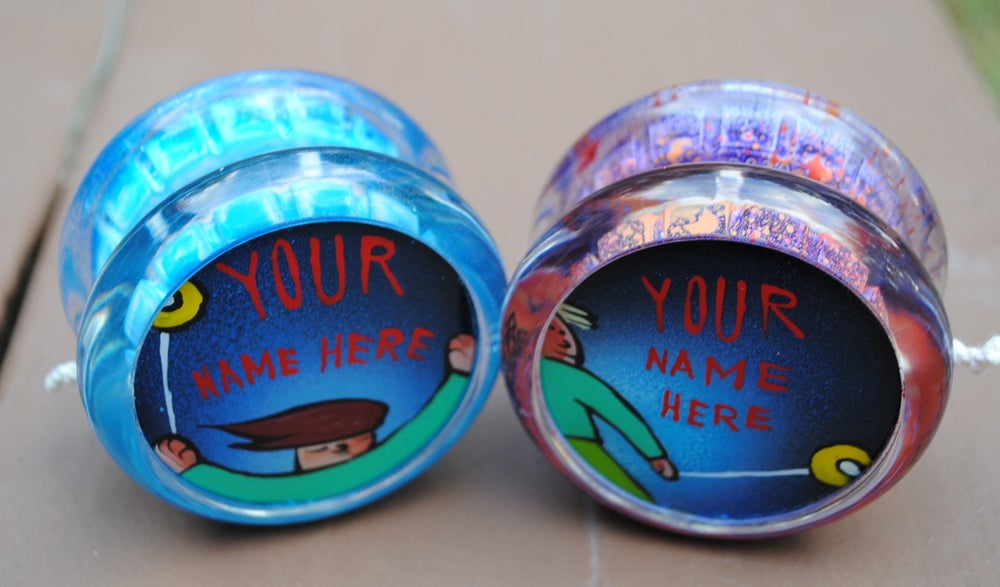 Image of YOU or Your OWN name on a Yo-Yo!