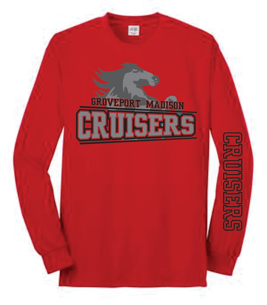 Image of Red Long Sleeve Tee