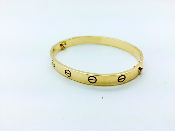 Image of 14kt Gold Love Bracelet